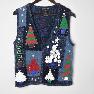 Hampshire Studio Embellished Christmas Vest